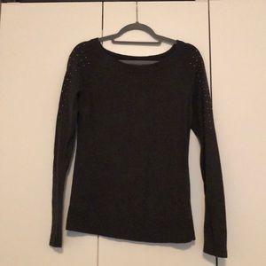 Dark grey crew neck sweater